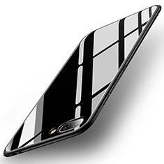 Huawei Honor 10用ハイブリットバンパーケース プラスチック 鏡面 カバー ファーウェイ ブラック