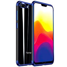 Huawei Honor 10用極薄ソフトケース シリコンケース 耐衝撃 全面保護 クリア透明 H01 ファーウェイ ネイビー
