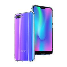 Huawei Honor 10用極薄ソフトケース シリコンケース 耐衝撃 全面保護 クリア透明 T03 ファーウェイ クリア