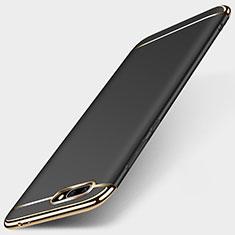Huawei Honor 10用ケース 高級感 手触り良い メタル兼プラスチック バンパー ファーウェイ ブラック