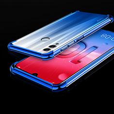 Huawei Honor 10 Lite用極薄ソフトケース シリコンケース 耐衝撃 全面保護 クリア透明 H01 ファーウェイ ネイビー
