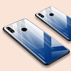 Huawei Honor 10 Lite用ハイブリットバンパーケース プラスチック 鏡面 カバー ファーウェイ ネイビー