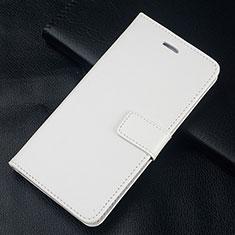 Huawei Honor 10 Lite用手帳型 レザーケース スタンド カバー L08 ファーウェイ ホワイト