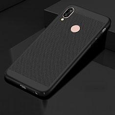 Huawei Honor 10 Lite用ハードケース プラスチック メッシュ デザイン カバー ファーウェイ ブラック