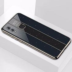 Huawei Honor 10 Lite用ハイブリットバンパーケース プラスチック 鏡面 カバー M01 ファーウェイ ブラック