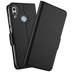 Huawei Honor 10 Lite用手帳型 レザーケース スタンド カバー L10 ファーウェイ ブラック