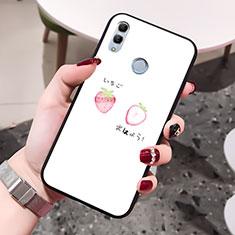 Huawei Honor 10 Lite用ハイブリットバンパーケース プラスチック 愛の心 鏡面 カバー ファーウェイ ホワイト