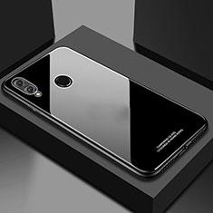Huawei Honor 10 Lite用ハイブリットバンパーケース プラスチック 鏡面 カバー M02 ファーウェイ ブラック