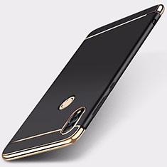 Huawei Honor 10 Lite用ケース 高級感 手触り良い メタル兼プラスチック バンパー M01 ファーウェイ ブラック