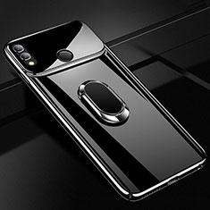 Huawei Honor 10 Lite用ハードケース プラスチック 質感もマット アンド指輪 マグネット式 A01 ファーウェイ ブラック