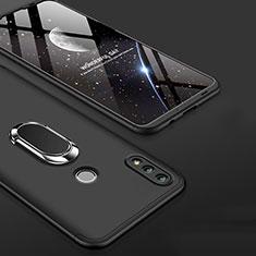 Huawei Honor 10 Lite用ハードケース プラスチック 質感もマット 前面と背面 360度 フルカバー アンド指輪 ファーウェイ ブラック