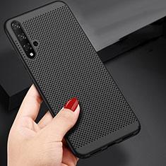 Huawei Honor 20用ハードケース プラスチック メッシュ デザイン ファーウェイ ブラック