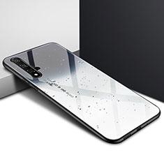 Huawei Honor 20用ハイブリットバンパーケース プラスチック パターン 鏡面 カバー ファーウェイ グレー