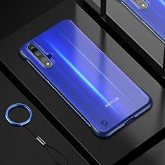 Huawei Honor 20用極薄ソフトケース シリコンケース 耐衝撃 全面保護 クリア透明 H01 ファーウェイ ネイビー