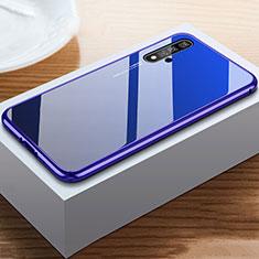 Huawei Honor 20用ハイブリットバンパーケース プラスチック 鏡面 カバー ファーウェイ ネイビー