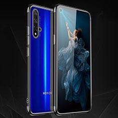 Huawei Honor 20用極薄ソフトケース シリコンケース 耐衝撃 全面保護 クリア透明 H02 ファーウェイ ブラック