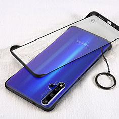 Huawei Honor 20用ハードカバー クリスタル クリア透明 S01 ファーウェイ ブラック