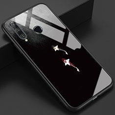 Huawei Honor 20 Lite用ハイブリットバンパーケース プラスチック パターン 鏡面 カバー K03 ファーウェイ グレー