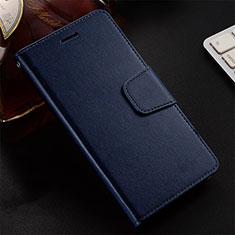 Huawei Honor 20 Lite用手帳型 レザーケース スタンド カバー T12 ファーウェイ ネイビー