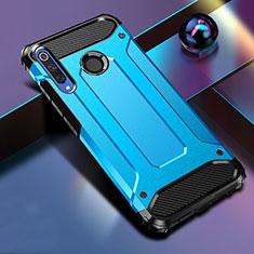 Huawei Honor 20 Lite用ハイブリットバンパーケース プラスチック 兼シリコーン カバー K01 ファーウェイ ネイビー