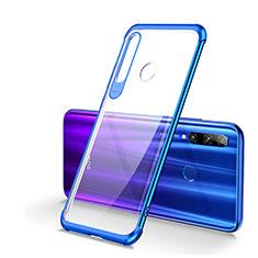 Huawei Honor 20 Lite用極薄ソフトケース シリコンケース 耐衝撃 全面保護 クリア透明 S01 ファーウェイ ネイビー