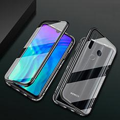 Huawei Honor 20 Lite用ケース 高級感 手触り良い アルミメタル 製の金属製 360度 フルカバーバンパー 鏡面 カバー T04 ファーウェイ ブラック