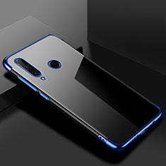 Huawei Honor 20 Lite用極薄ソフトケース シリコンケース 耐衝撃 全面保護 クリア透明 S02 ファーウェイ ネイビー