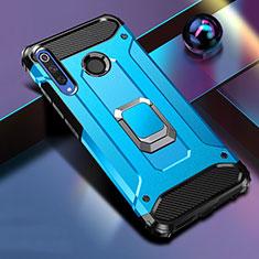 Huawei Honor 20 Lite用ハイブリットバンパーケース スタンド プラスチック 兼シリコーン カバー マグネット式 K01 ファーウェイ ネイビー