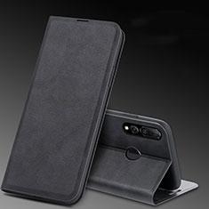 Huawei Honor 20 Lite用手帳型 レザーケース スタンド カバー T11 ファーウェイ ブラック