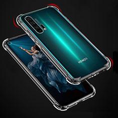 Huawei Honor 20 Pro用極薄ソフトケース シリコンケース 耐衝撃 全面保護 クリア透明 カバー ファーウェイ クリア