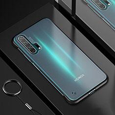 Huawei Honor 20 Pro用極薄ソフトケース シリコンケース 耐衝撃 全面保護 クリア透明 H01 ファーウェイ ブラック