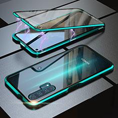 Huawei Honor 20 Pro用ケース 高級感 手触り良い アルミメタル 製の金属製 360度 フルカバーバンパー 鏡面 カバー M01 ファーウェイ グリーン