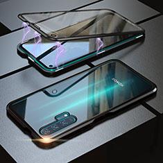 Huawei Honor 20 Pro用ケース 高級感 手触り良い アルミメタル 製の金属製 360度 フルカバーバンパー 鏡面 カバー M01 ファーウェイ ブラック