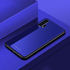 Huawei Honor 20 Pro用ハイブリットバンパーケース プラスチック 鏡面 カバー ファーウェイ ネイビー
