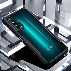 Huawei Honor 20 Pro用ハイブリットバンパーケース クリア透明 プラスチック 鏡面 カバー ファーウェイ ブラック
