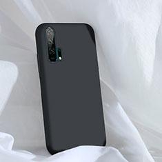 Huawei Honor 20 Pro用360度 フルカバー極薄ソフトケース シリコンケース 耐衝撃 全面保護 バンパー C03 ファーウェイ ブラック
