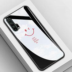 Huawei Honor 20 Pro用ハイブリットバンパーケース プラスチック 鏡面 カバー T03 ファーウェイ ブラック