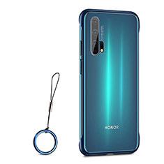 Huawei Honor 20 Pro用ハードカバー クリスタル クリア透明 S01 ファーウェイ ネイビー