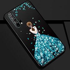 Huawei Honor 20 Pro用シリコンケース ソフトタッチラバー バタフライ ドレスガール ドレス少女 カバー K01 ファーウェイ ネイビー