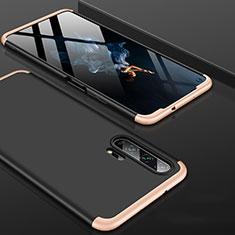 Huawei Honor 20 Pro用ハードケース プラスチック 質感もマット 前面と背面 360度 フルカバー P01 ファーウェイ ゴールド・ブラック