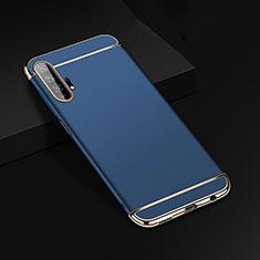 Huawei Honor 20 Pro用ケース 高級感 手触り良い メタル兼プラスチック バンパー T01 ファーウェイ ネイビー