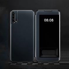 Huawei Honor 20 Pro用手帳型 レザーケース スタンド カバー T01 ファーウェイ ネイビー
