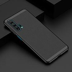 Huawei Honor 20 Pro用ハードケース プラスチック メッシュ デザイン カバー W01 ファーウェイ ブラック