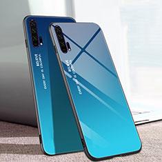 Huawei Honor 20 Pro用ハイブリットバンパーケース プラスチック 鏡面 虹 グラデーション 勾配色 カバー H01 ファーウェイ ネイビー