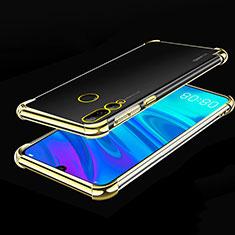 Huawei Honor 20E用極薄ソフトケース シリコンケース 耐衝撃 全面保護 クリア透明 H01 ファーウェイ ゴールド