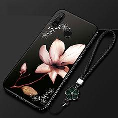 Huawei Honor 20E用シリコンケース ソフトタッチラバー 花 カバー ファーウェイ マルチカラー