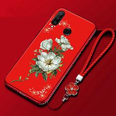 Huawei Honor 20i用シリコンケース ソフトタッチラバー 花 カバー ファーウェイ カラフル