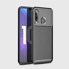 Huawei Honor 20i用シリコンケース ソフトタッチラバー ツイル カバー ファーウェイ ブラック
