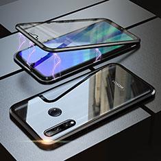 Huawei Honor 20i用ケース 高級感 手触り良い アルミメタル 製の金属製 360度 フルカバーバンパー 鏡面 カバー ファーウェイ ブラック