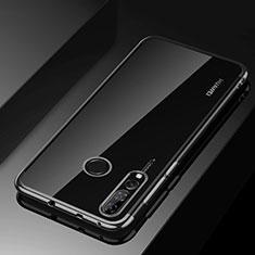 Huawei Honor 20i用極薄ソフトケース シリコンケース 耐衝撃 全面保護 クリア透明 H03 ファーウェイ ブラック